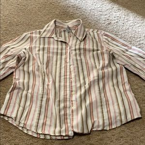 George striped button up shirt